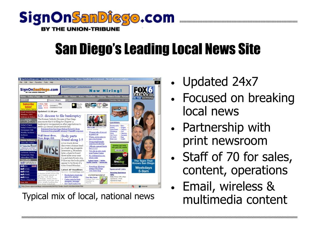 San Diego's Leading Local News Site