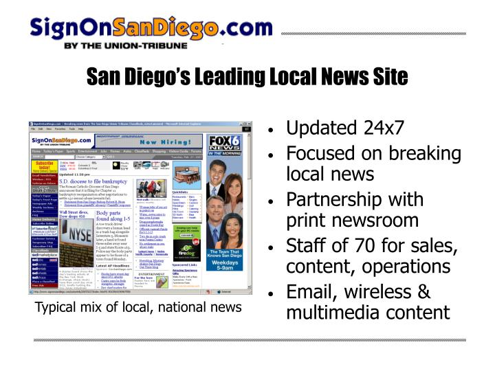 San diego s leading local news site