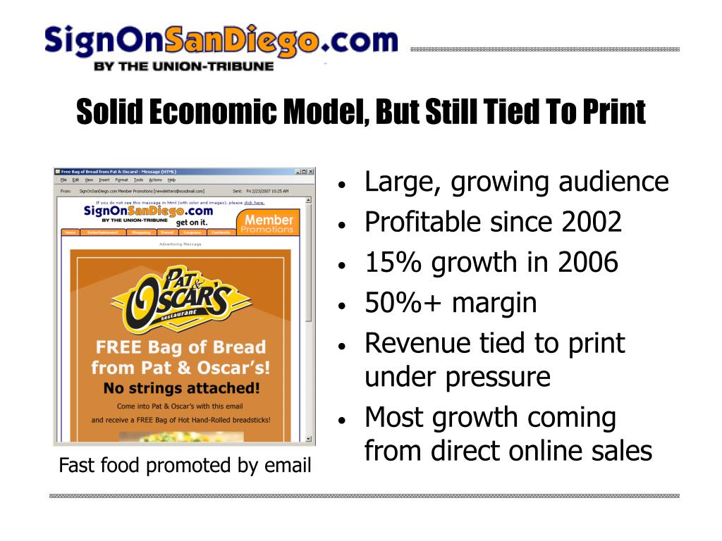 Solid Economic Model, But Still Tied To Print