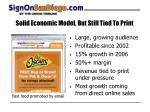 solid economic model but still tied to print