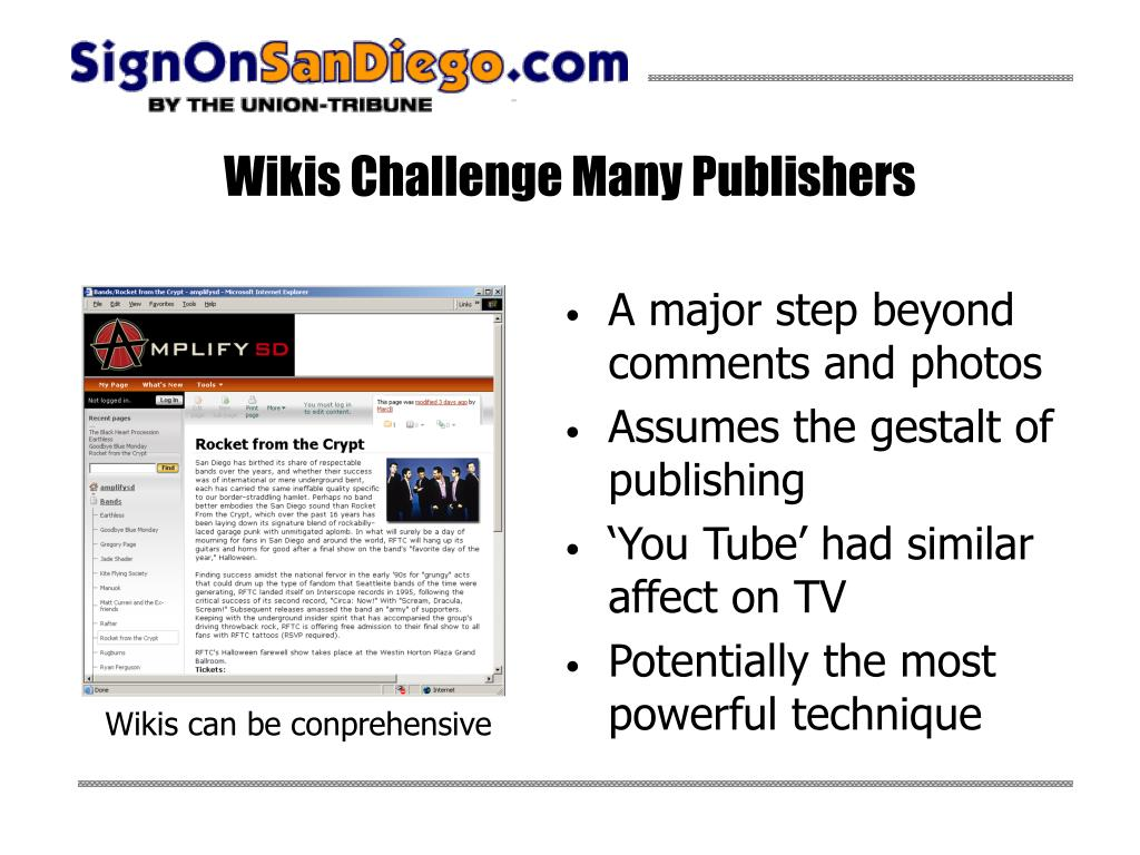 Wikis Challenge Many Publishers