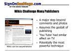 wikis challenge many publishers