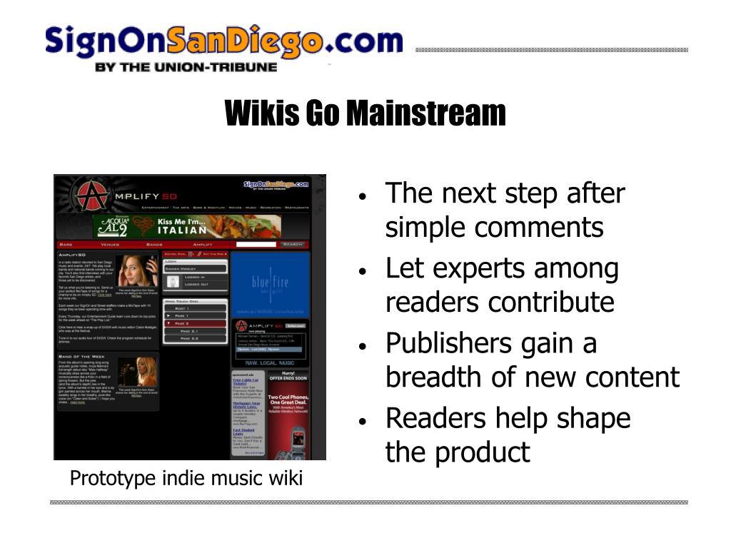 Wikis Go Mainstream