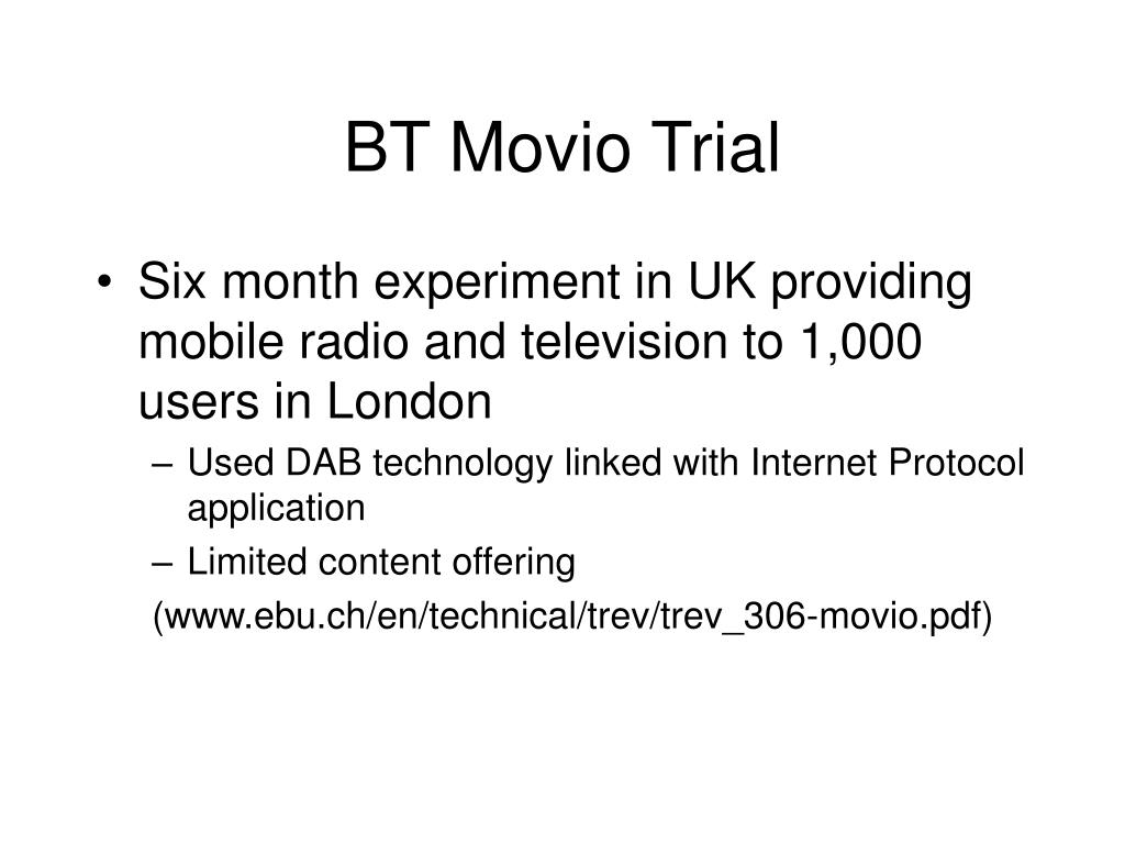 BT Movio Trial