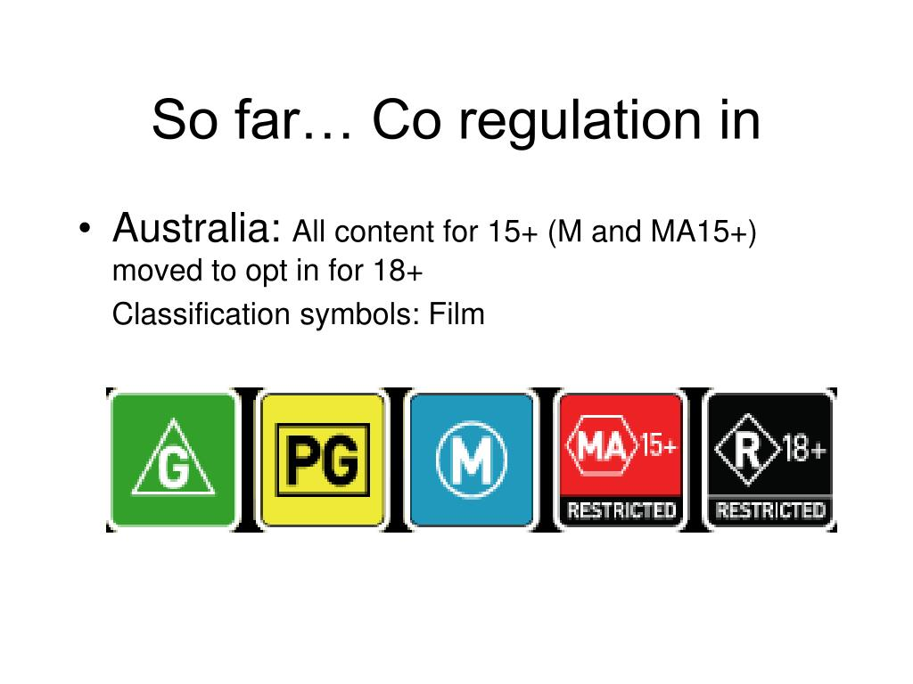 So far… Co regulation in