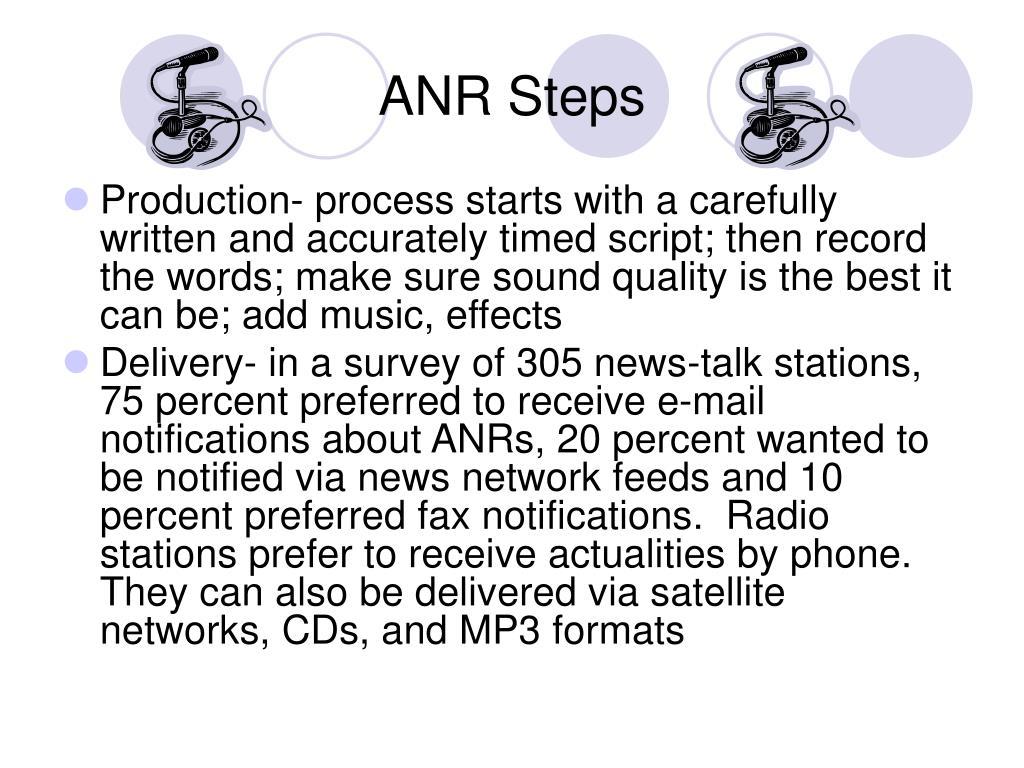 ANR Steps