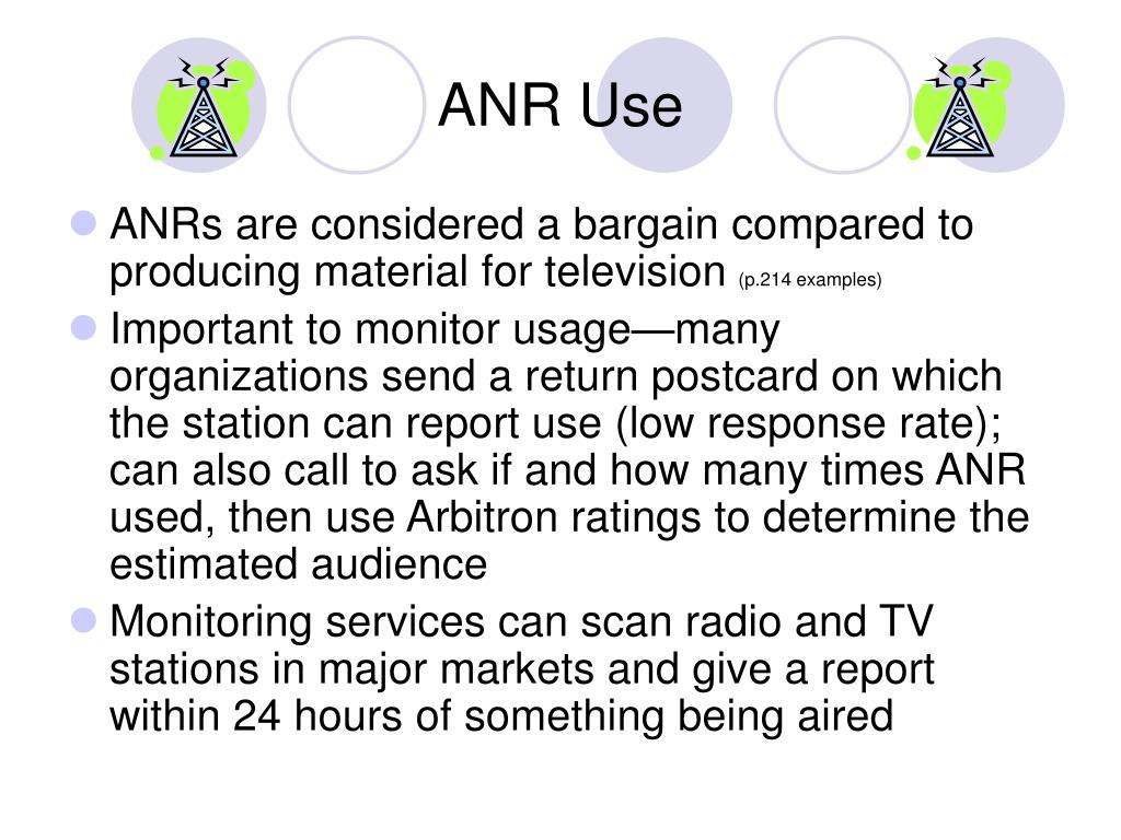 ANR Use