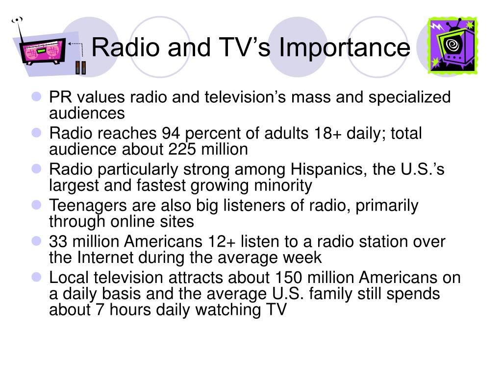 Radio and TV's Importance