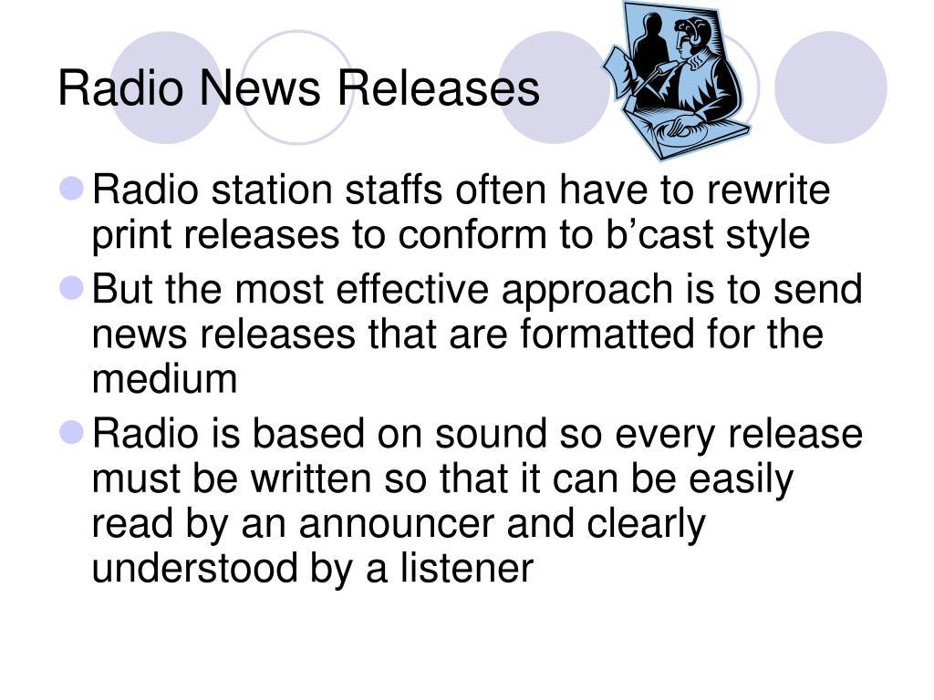 Radio News Releases