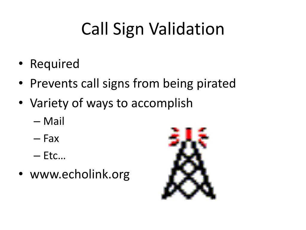 Call Sign Validation