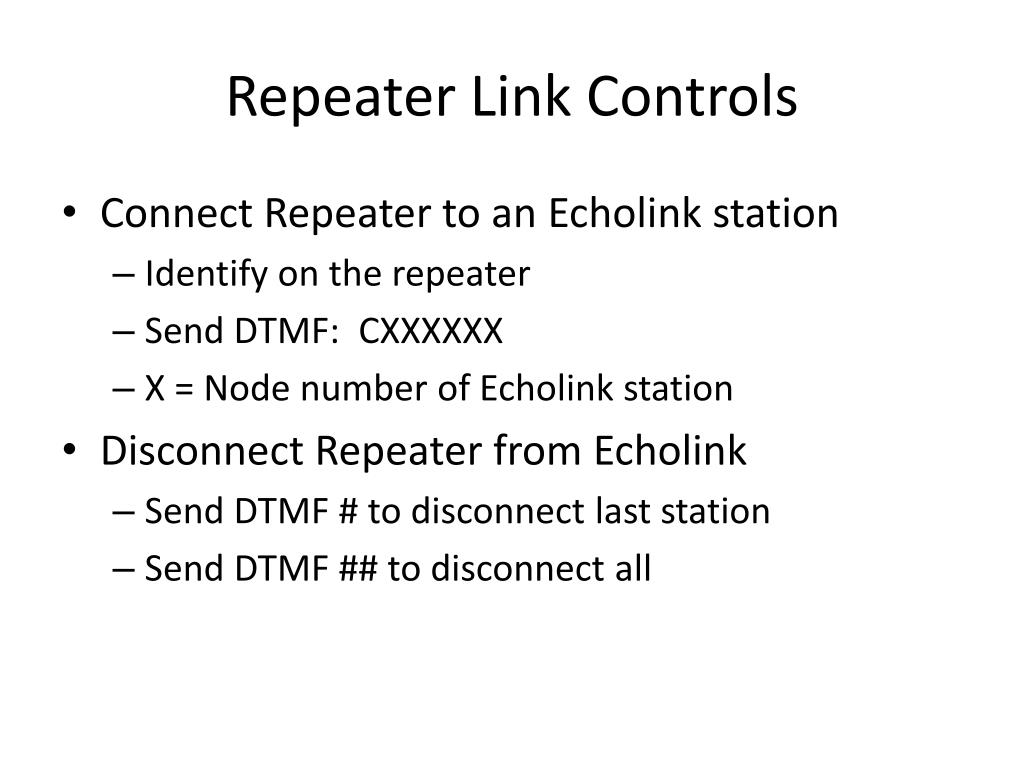 Repeater Link Controls