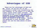 advantages of ssb