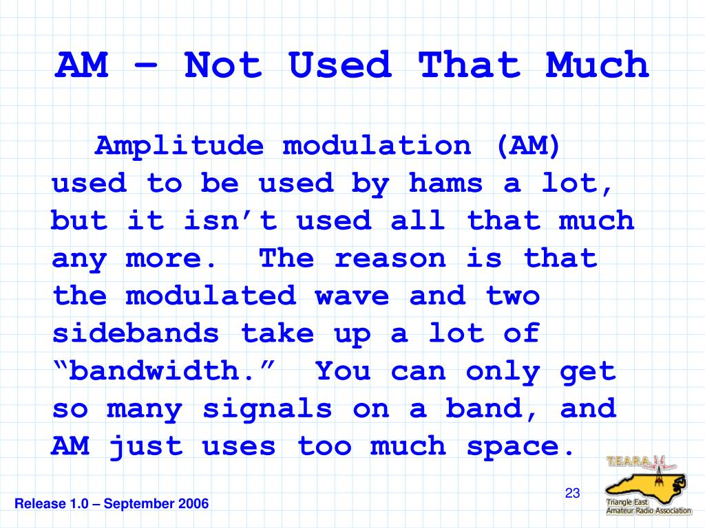 AM – Not Used That Much
