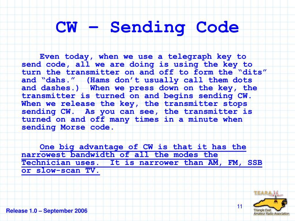 CW – Sending Code