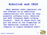 echolink and irlp