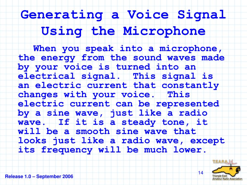 Generating a Voice Signal Using the Microphone