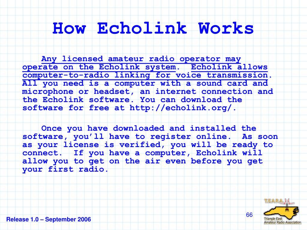 How Echolink Works