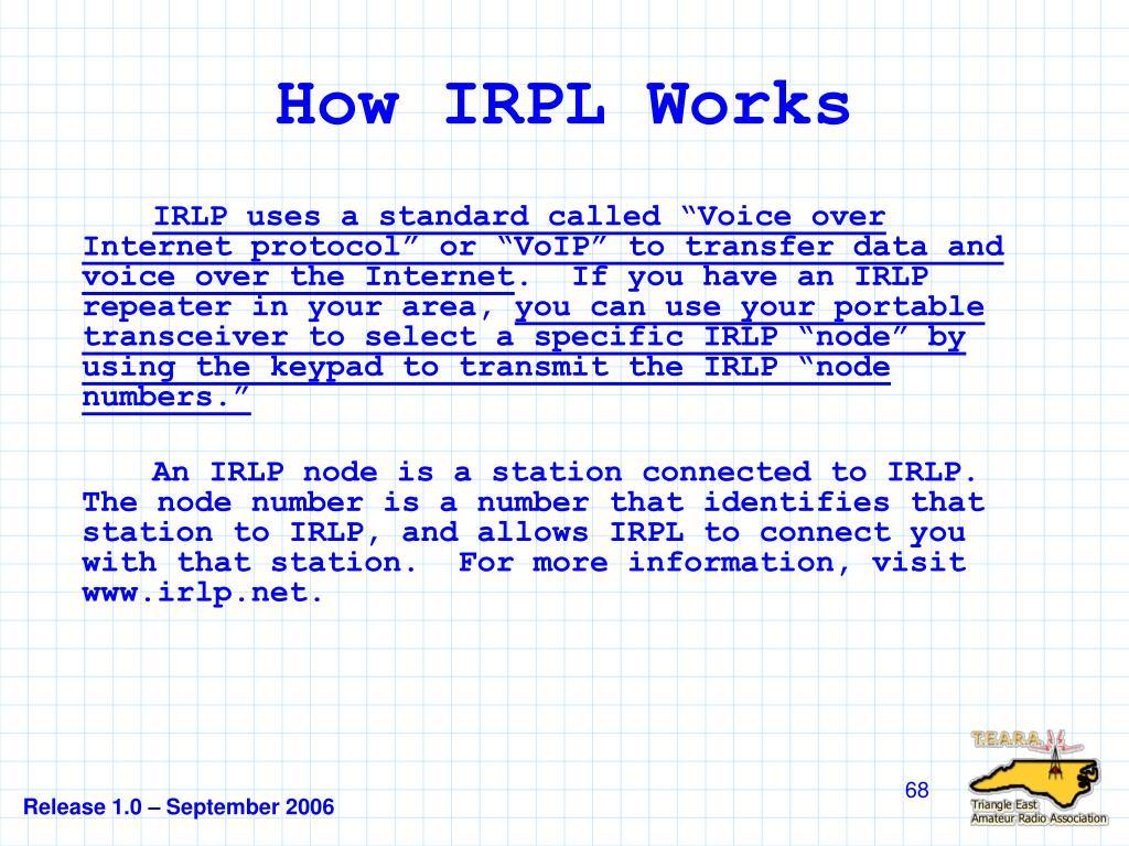 How IRPL Works