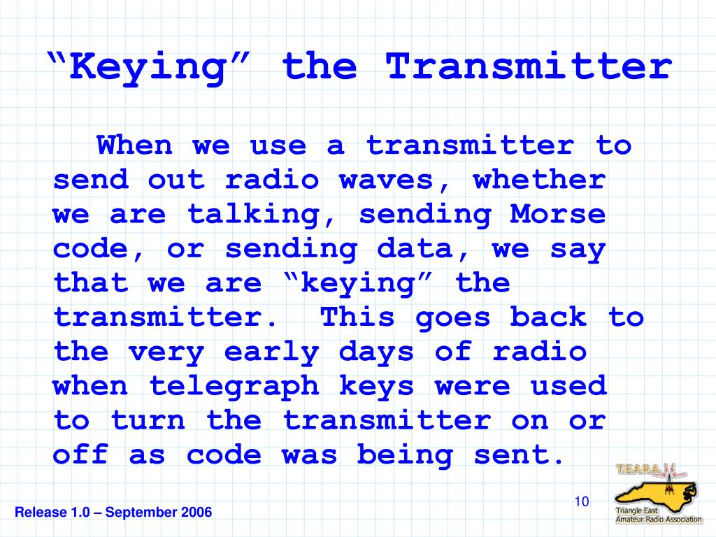 """Keying"" the Transmitter"