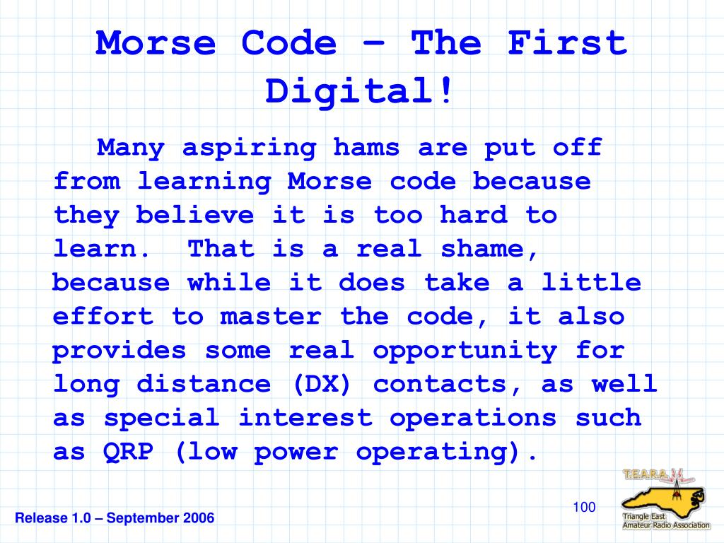Morse Code – The First Digital!