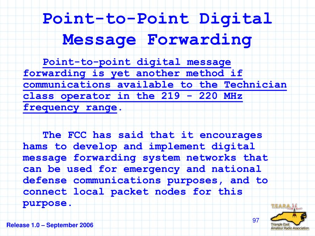 Point-to-Point Digital Message Forwarding