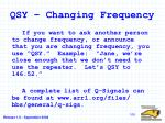 qsy changing frequency