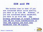 ssb and fm