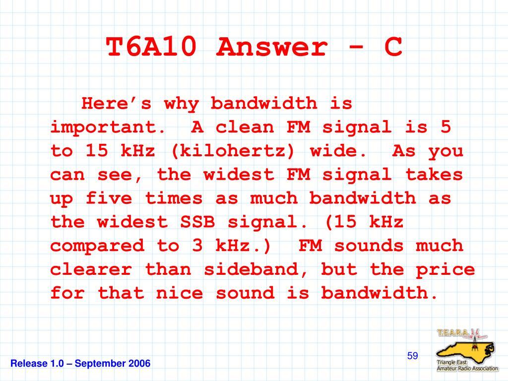 T6A10 Answer - C
