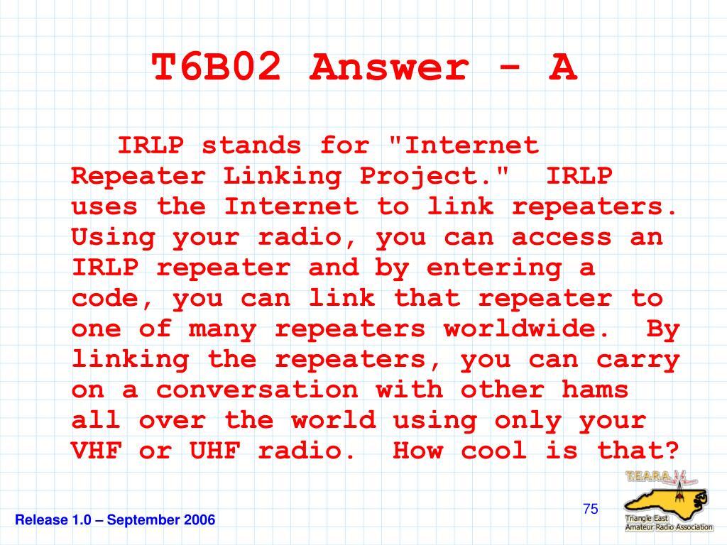 T6B02 Answer - A