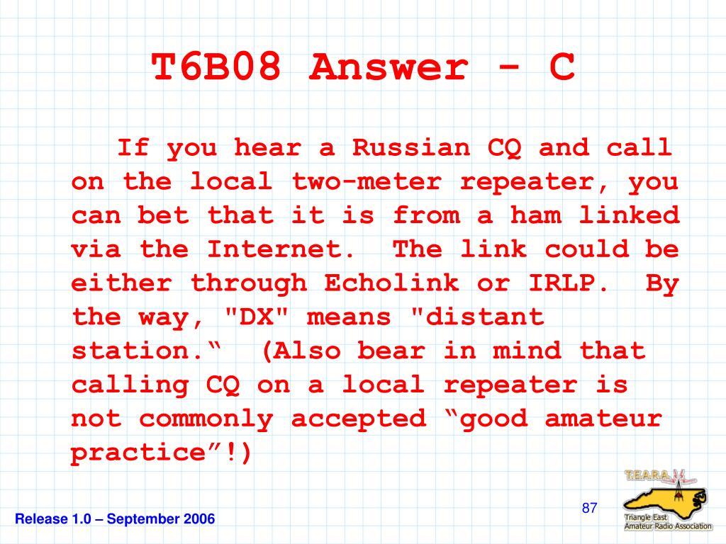 T6B08 Answer - C