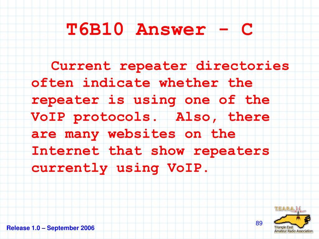 T6B10 Answer - C