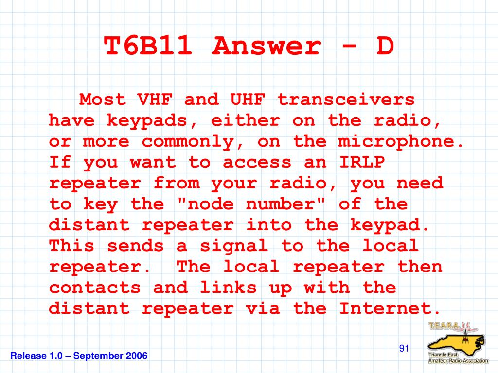 T6B11 Answer - D