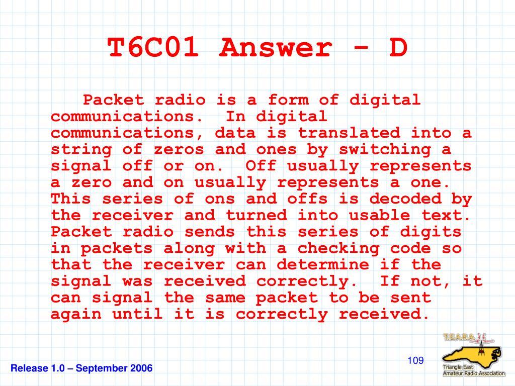 T6C01 Answer - D
