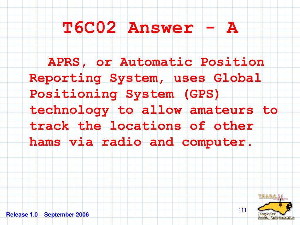 T6C02 Answer - A