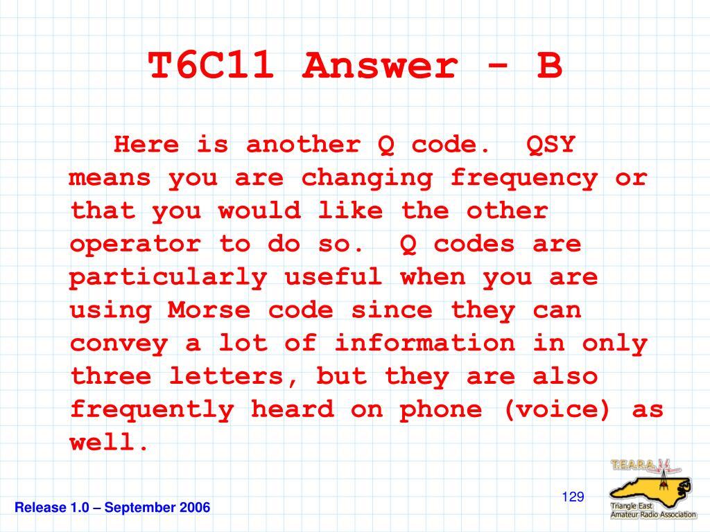 T6C11 Answer - B