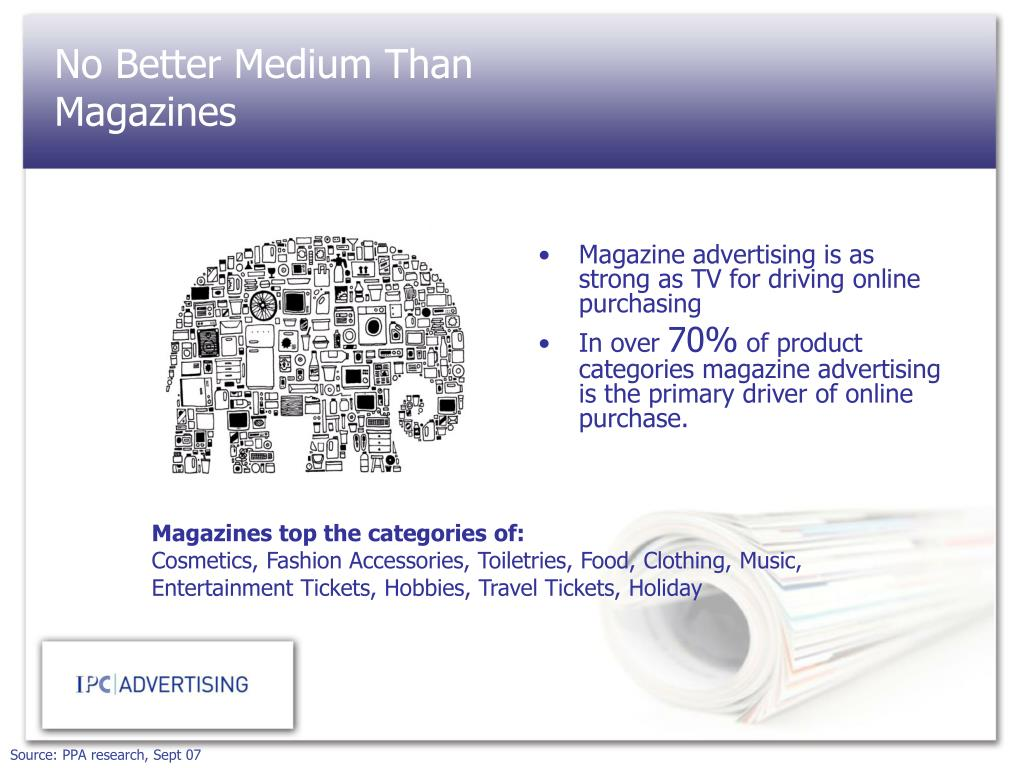 Magazine advertising is as strong as TV for driving online purchasing