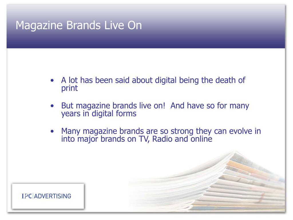 Magazine Brands Live On