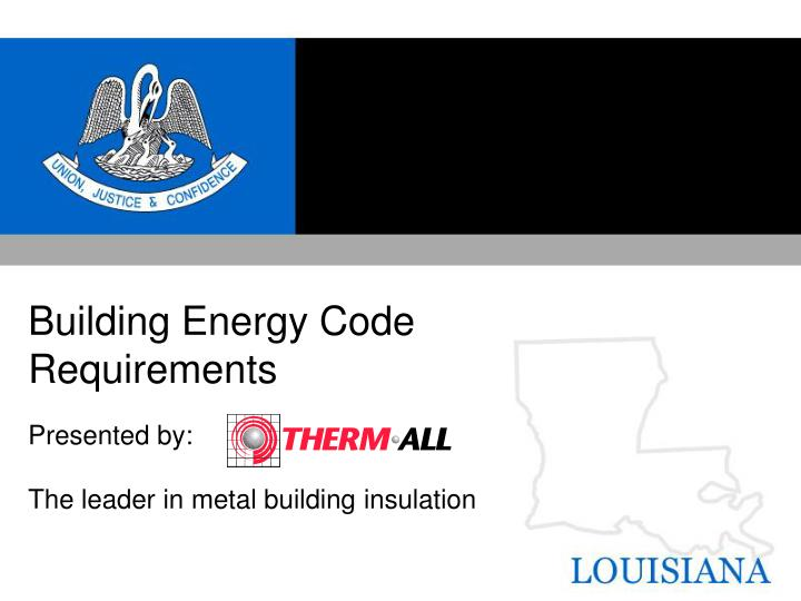 Building energy code requirements l.jpg