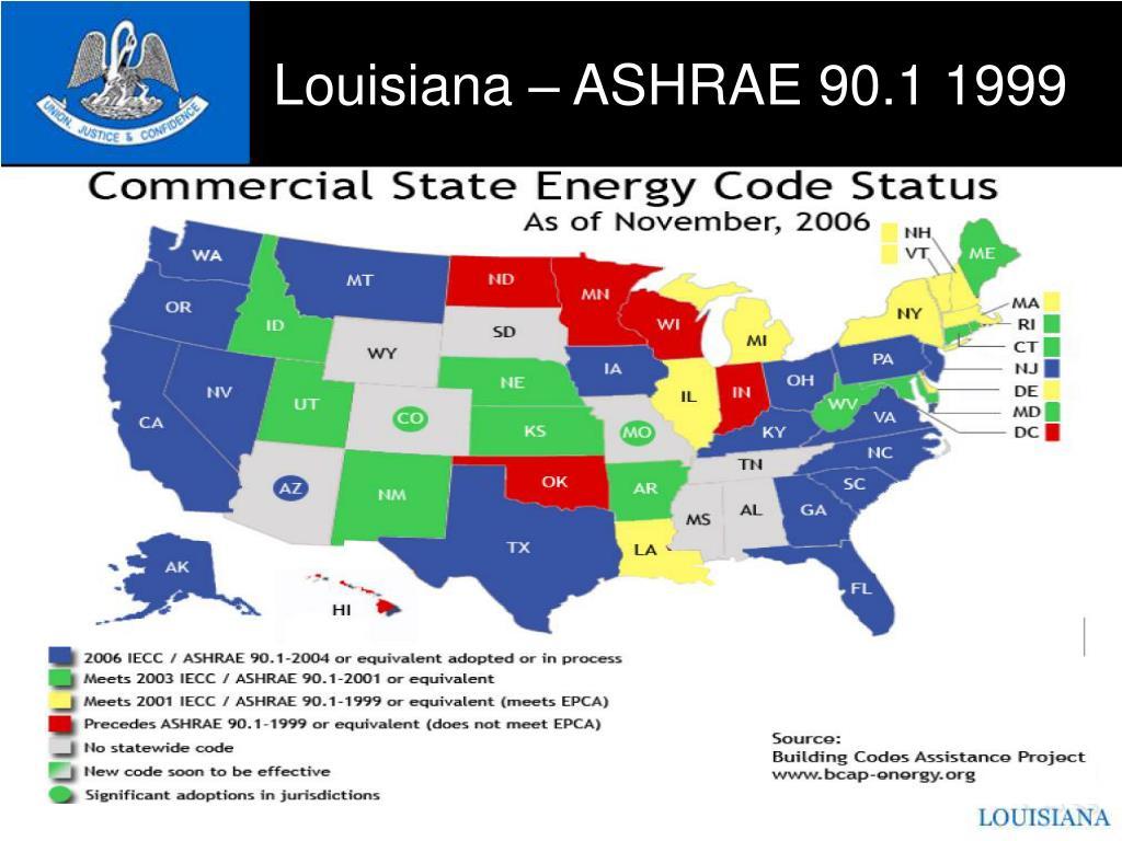 Louisiana – ASHRAE 90.1 1999