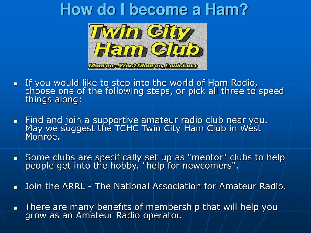 How do I become a Ham?