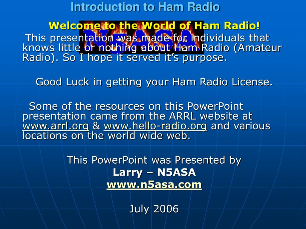 Introduction to Ham Radio