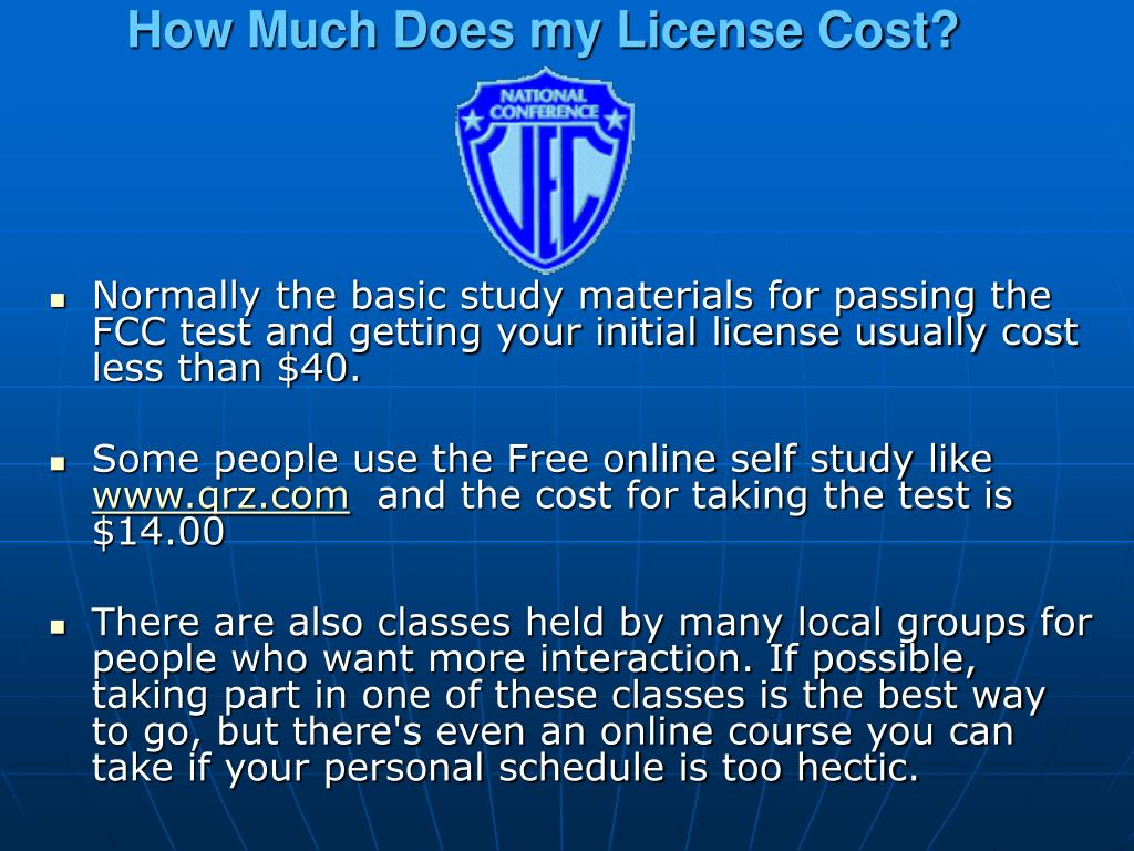 How Much Does my License Cost?