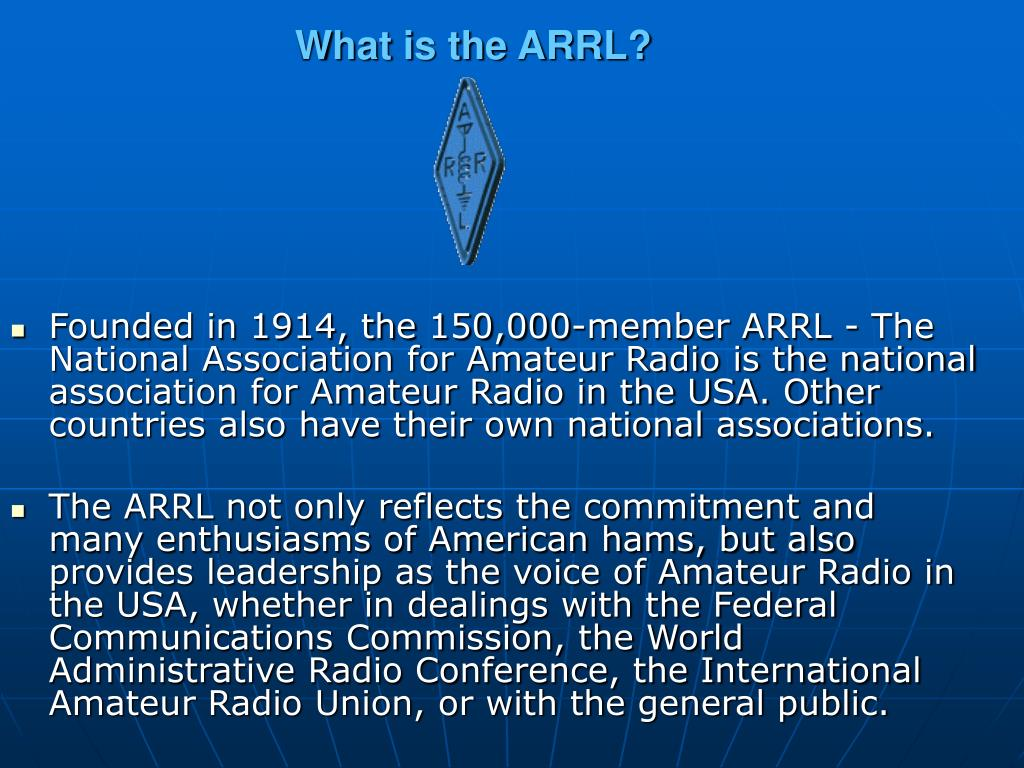 What is the ARRL?