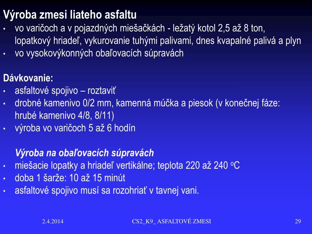 CS2_K9_ ASFALTOVÉ ZMESI