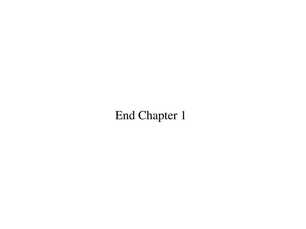 End Chapter 1