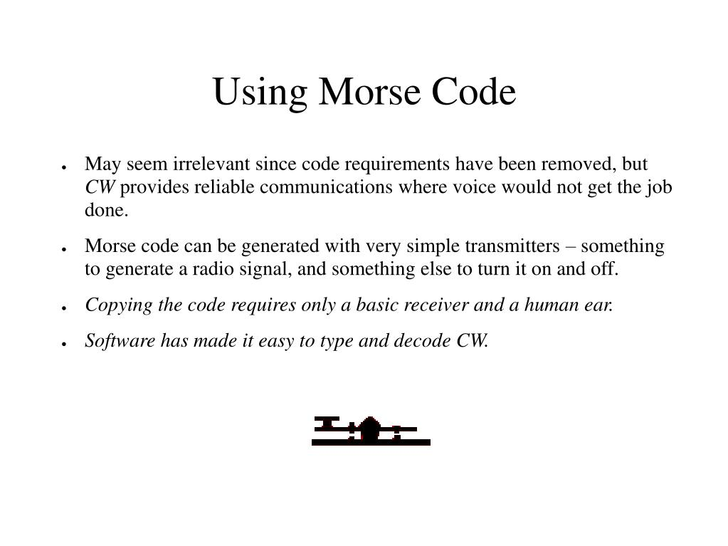 Using Morse Code