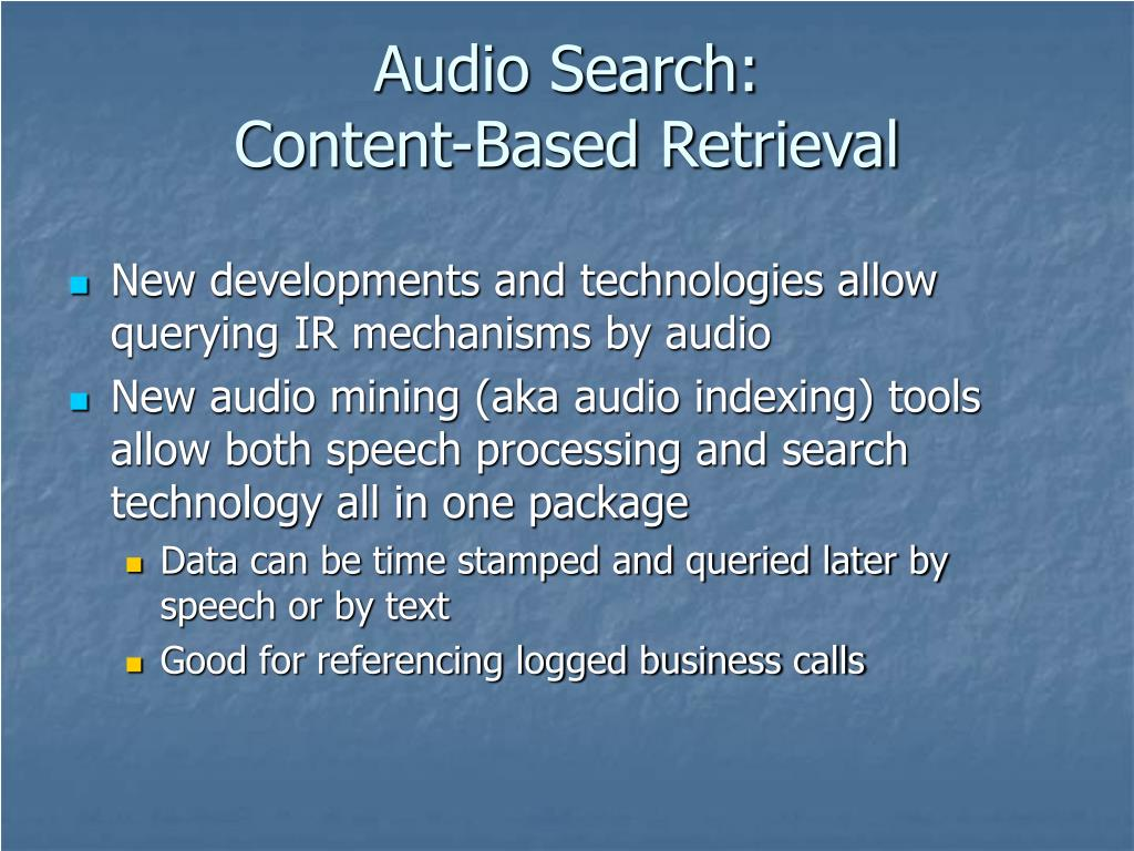 Audio Search: