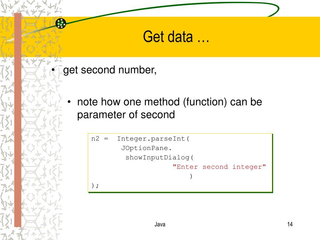 Get data …