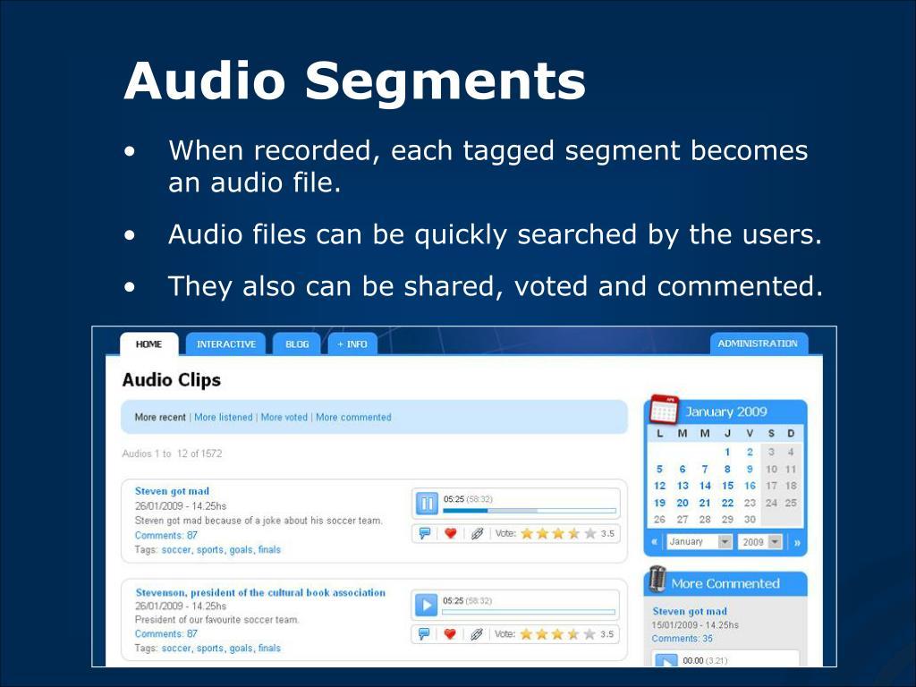 Audio Segments