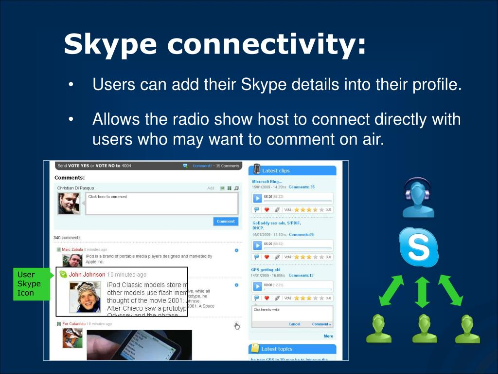 Skype connectivity: